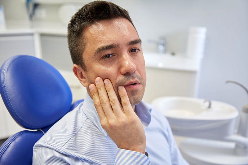 Pain with dental sensitivity